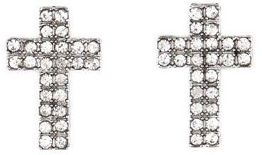 Charlotte Russe Rhinestone Cross Stud Earrings
