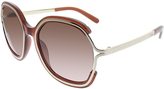 Chloé Brown Gradient Browline Oversize Sunglasses