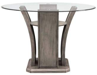 Mid-Century MODERN Picket House Furnishings Dylan Round Counter Dining Table Gray Wash