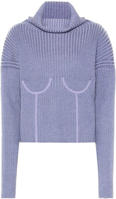 Thierry Mugler Wool-blend turtleneck sweater