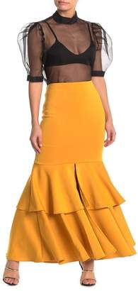 Gracia Vented Tiered Maxi Skirt