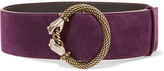 Lanvin Embellished Suede Waist Belt - Purple