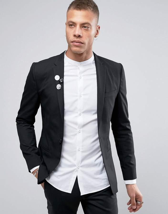 Religion Skinny Blazer With Badges