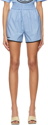 Fendi Blue Eco Popeline Shorts