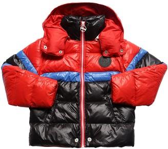Diesel Hooded Color Block Nylon Down Jacket