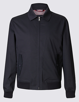 Blue Harbour Cotton Rich Bomber Jacket With Stormweartm