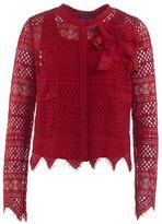 Twin-Set Red Macramè Lace Short Jacket