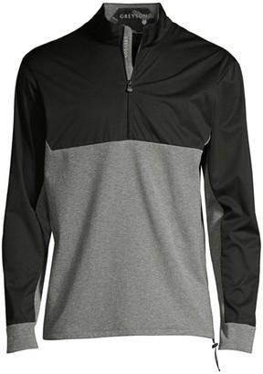Greyson Comanche Two-Tone Half-Zip Sweater