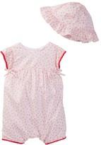 Absorba Romper & Hat Set (Baby Girls)