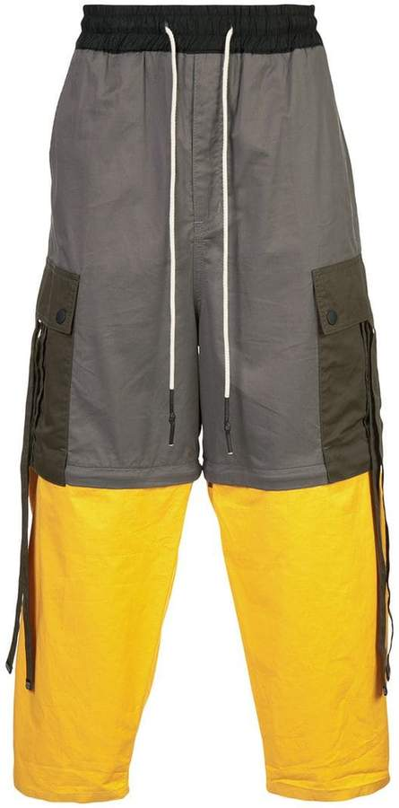 Mostly Heard Rarely Seen colour-block trousers