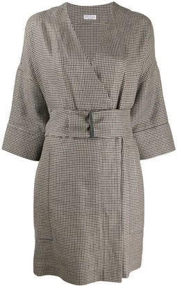 Brunello Cucinelli Checked Mini Dress