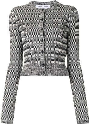 Proenza Schouler White Label Geometric Pattern Knit Cardigan
