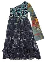 Jean Paul Gaultier MultiColor Print One Shoulder Dress