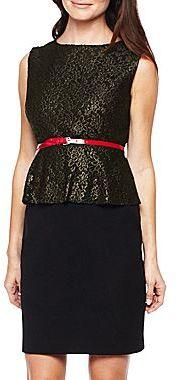 JCPenney Worthington® Lace Peplum Dress - Petite