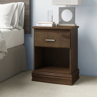 """Akin Carnegie Hill 1 - Drawer Solid Wood Nightstand in Riverwood Size: 28"""" H x 22"""" W x 16"""" D"""