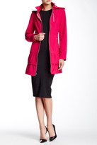 Betsey Johnson Hooded And Zippered Trench Coat