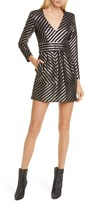 Smythe Metallic Stripe Minidress