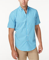 Club Room Men's Big and Tall Check Short-Sleeve Shirt