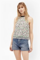 French Connection Boccara Sleeveless Lace Top