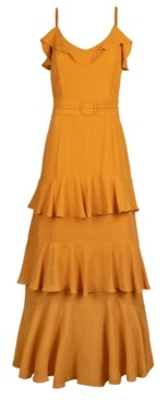 Rachel Roy Ruffled Maxi Dress