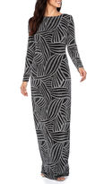 Melrose Long Sleeve Cut Outs Evening Gown