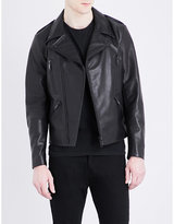Sandro Slim-fit leather biker jacket