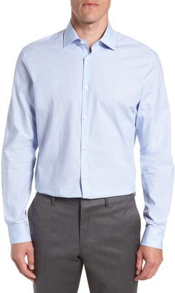 John Varvatos Regular Fit Stripe Dress Shirt
