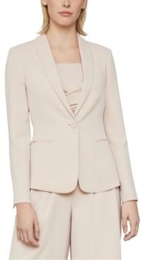 BCBGMAXAZRIA Shawl-Collar Twill Jacket