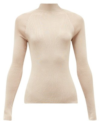 Petar Petrov Kiena Cutout-back Jersey Sweater - Light Pink
