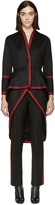 Givenchy Black & Red Military Coat
