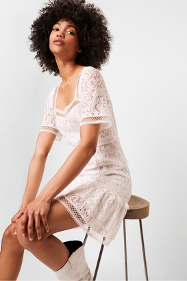French Connection Amisha Lace Panelled Dress
