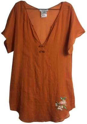 Christian Dior \N Orange Cotton Top for Women Vintage