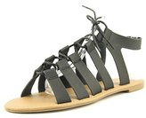 Wanted Chillie Women Open Toe Synthetic Black Gladiator Sandal.