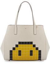 Anya Hindmarch Ebury Pixel Simley Shopper Tote Bag, White