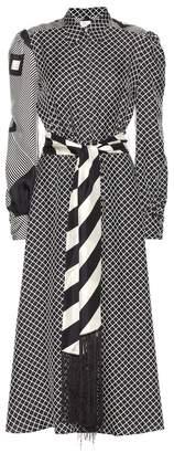 Hillier Bartley Monoprint printed silk dress