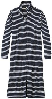 L.L. Bean Women's Ultrasoft Sweatshirt Robe, Stripe
