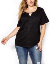 Penningtons Shaped Fit Lace Front T-Shirt