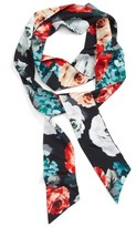 Cara Women's Floral Print Skinny Scarf