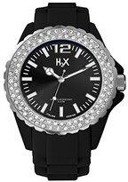Haurex H2X Women's SS382DN1 Reef Stones Luminous Water Resistant Black Soft Rubber Watch