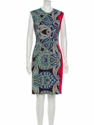 Lanvin Paisley Print Knee-Length Dress Red