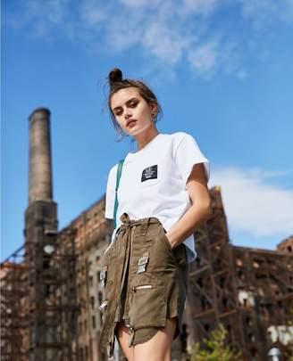 The Kooples Cotton mutli-pocket short khaki skirt