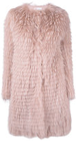 RED Valentino midi fur coat - women - Racoon Fur - 42