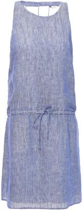 Joie Cutout Melange Linen Mini Dress