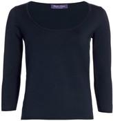 Ralph Lauren Ballet-Neck Sweater Top