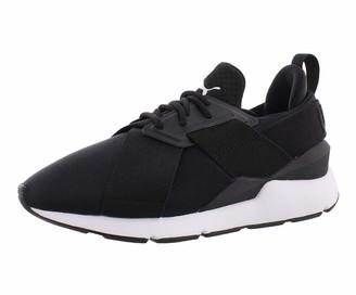 Puma Women's Muse Satin En Pointe Wn Sneaker Black White 8 M US