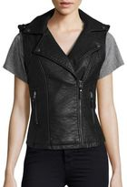 Max Studio Notched Collar Sleeveless Jacket