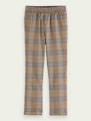 Scotch & Soda Relaxed slim fit checked pants | Boys