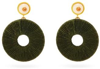 Lizzie Fortunato Jasper Tourmaline & Gold-plated Drop Earrings - Dark Green