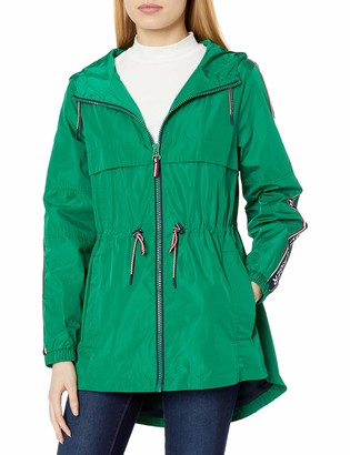 Tommy Hilfiger Women's Anorak with Logo Sleeve Taping