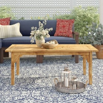 Birch Lane Summerton Teak Coffee Table Heritage Color: Natural Teak